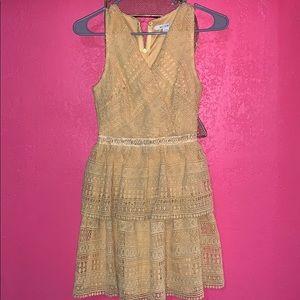 Francesca's Mustard Colored Dress